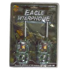 Eagle armée force intercom style series batterie talkie walkie toy set