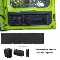 Black Tailgate Storage Bag Case Cover Tool Organizer For Suzuki Jimny 2019+ 4pcs