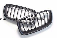 12-15 BMW F30 F31 3 Series Matte Black Front Hood Kidney Grille Grills 328i 335i