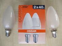 RARITé 2 x OSRAM Ampoule bougie MAT 40W E14 Ampoule bougie QUALITÉ PREMIUM mat