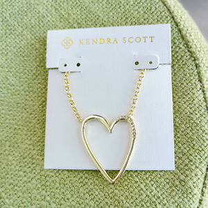 MUST HAVE Kendra Scott Ansley Heart Gold Pendant Necklace