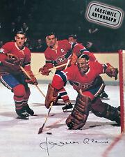 Facsimile Autographed Jacques Plante Action - Montreal Canadiens