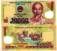 VIETNAM VIET NAM Billet 10000 DONG 2008 POLYMER P119 DONG HO CHI MINH NEUF UNC