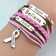Hope/Believe/Faith/ Breast Cancer Pink Bracelet