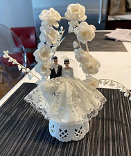 """Vintage Cake Topper Almost 9"""" Tall Great Original Condition.  From 40s-50s."""