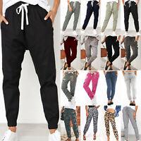 Women Casual Jogger Harem Trousers Tracksuit Bottom Slacks Long Pants Sweatpants