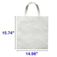 10pcs Blank Sublimation Non Woven Diy White Shopping Bags Tote Bag 38cmx40cm