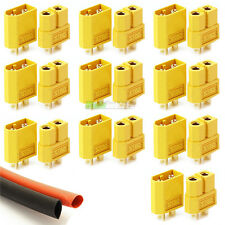 10 x PAIR Of RC XT60 Lipo Battery Connectors & Heat-Shrink Plane Helicopter Quad