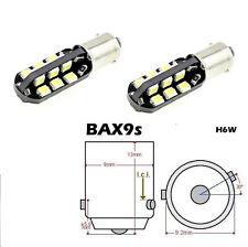 2 pezzi lampadina Luce Bianca 24 LED SMD2835 12V DC BAX9S  H6W per auto