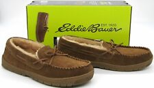 Eddie Bauer Men's Woodland Suede Slippers Indoor/Outdoor Shoes Tan Medium (8-9)