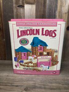 Lincoln Logs Little Prairie Farmhouse Building Set Wood Only Missing Brush