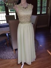 LIGHT IN THE BOX APPLE GREEN LACE CRUISE EVENING PROM DRESS LONG BALL GOWN 6 8
