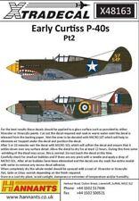 Xtradecal X48163 1:48 Curtiss P-40B Tomahawk (Warhawk) Pt 2