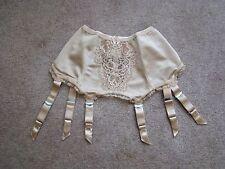 Vintage New Garter Belts 6-strap Suspender Belt Mink Medium M  Lace Cleopatra