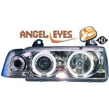 LHD phares de projecteur Paire Angel Eyes clair chrome pour BMW E36 Compact 90-99