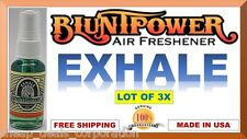 3X BluntPower 100% Concentrated Oil Based Air Fresheners Blunt Power EXHALE