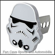 "Star Wars Storm Trooper 1 1/4"" - 2"" Solid Metal Hitch Plug Receiver Cover"