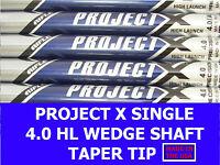 Rifle Project X Single Wedge Shaft 4.0 Senior/Soft Regular 355 Taper Tip Chrome