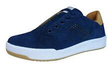 Chaussures bleus moyens à lacets en cuir pour garçon de 2 à 16 ans