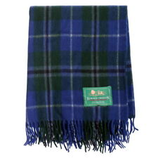 New Scottish Highland Border Tweeds 100% Wool Tartans Rugs in Douglas