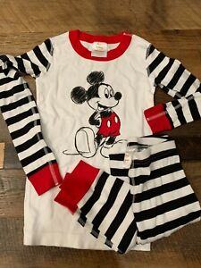 Hanna Andersson Organic Cotton Disney Collection Mickey Mouse PJ's Sz8