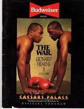 "The War Leonard Vs Hearns II June 12, 1989 Official Program ""Caesars Palace"""