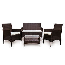 (953) POLY RATTAN braun Lounge Sofa Garnitur Polyrattan Sitzgruppe Gartenmöbel