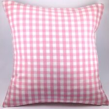"""Laura Ashley Gingham Check Pink 16"""" Cushion Cover"""