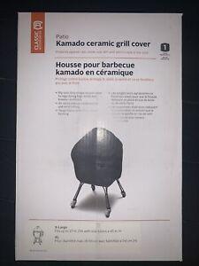 Classic Accessories Black Kamado Ceramic Barbecue BBQ Grill Cover Protect New