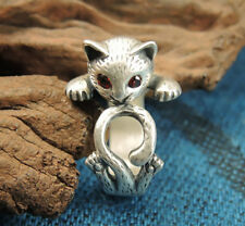 Kitty Cat Ring, Crystal Eyes, Cat Ring, Animal Ring, Adjustable Ring AR-16