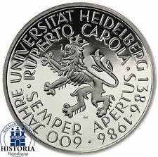 Germania 5 DM 1986 speculari Università di Heidelberg in Münzkapsel