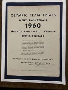 "1960 ""RARE"" Olympic Team Trials Basketball Program/JERRY WEST/OSCAR ROBERTSON!"