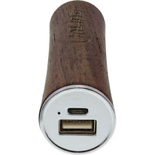 InLine - USB Akku PowerBank 3.000mAh, mit LED Anzeige, Echtholz, Walnuss