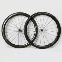 700C Carbon Road Bike Wheels 50mm Depth Novatec 511/ 522 Hub Clincher 12K/3K/UD