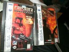 2 (Sega Saturn, 1997) Maximum Force Crusader & NO REMORSE 1996 BOTH Complete CIB