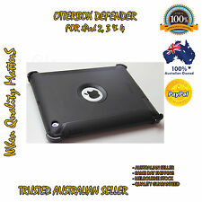 OtterBox iPad 2 3 4 Genuine Defender Case Cover Black Heavy Duty Tough Strong AU