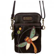 NEW CHALA DRAGONFLY CELL PHONE CROSSBODY PURSE ADJUSTABLE STRAP BLACK
