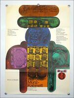 """Ausstellungs Plakat """"Münzen und Medallien"""" Frankfurt '64 Künstler Poster 60er J."""