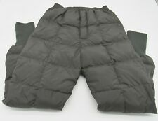Cabelas Premier Northern Goose Down Quilted Base Layer Pants Gray Size M Regular