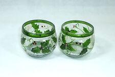 Dos vasos rara Viena para 1900 Mistel vidrio