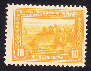 US Scott 400 old 10c Panama-Pacific Expo issue perf 12 M/NH/OG CV $270