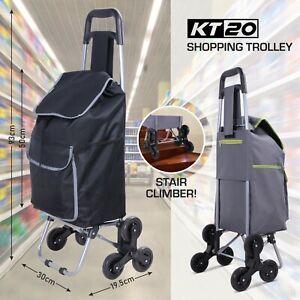 Shopping Trolley STAIR CLIMBER Wheeled Cart 6 Wheels Bag Rolling Folding