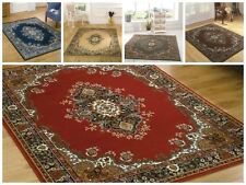 Flair Rugs Element Lancaster Traditional Rug Red 60 X 110 Cm