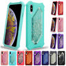 Glitter Liquid Quicksand Rugged Rubber Case Cover for iPhone XS Max X XR 7 8Plus