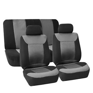 Universal Seat Covers Gray Black For Auto Car Full Set for Most Car SUv Van
