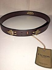 NEW WITH TAGS FILSON MADE IN USA SPORTSMAN SLING LEATHER BELT 40