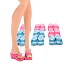 10pares de zapatillas originales para Barbie accesorios moda muñeca al azar kp