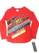 ROCAWEAR SHIRT NEW TODDLER BABY GIRLS 3T ROUCHED SIDE LONG SLEEVE FASHION z