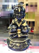 9895 BUCHA STATUE THAI GUMAN BABY SPIRIT MONEY GAMBLING RICH 4 FACE 9 EYE SUBIN