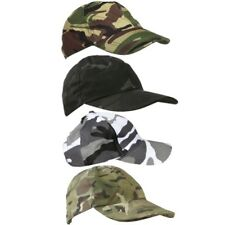 KIDS ARMY CAMO CAP BOYS GIRLS RIPSTOP HAT MTP DPM BTP SAS BLACK URBAN CAMOUFLAGE